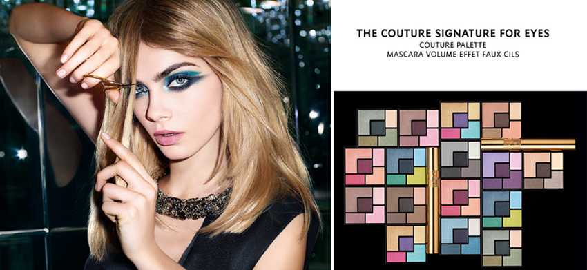 YSL Couture Palettes Eye Shadows promo with Cara Delevigne