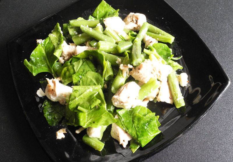 Clean & Lean Broad Bean, Spinach and Turkey Salad makeup4all