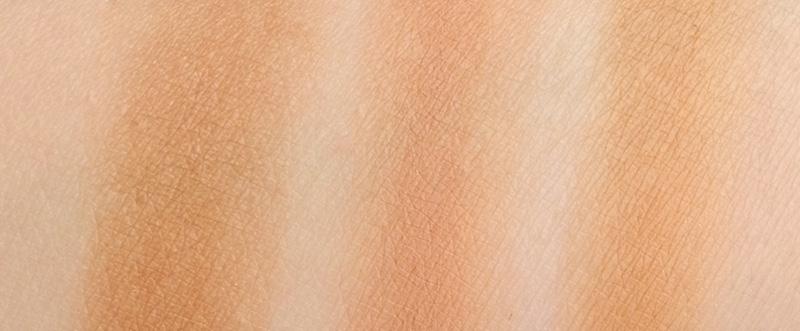 Cream Bronzers Chanel, Laura Mercier and Sienna X swatches