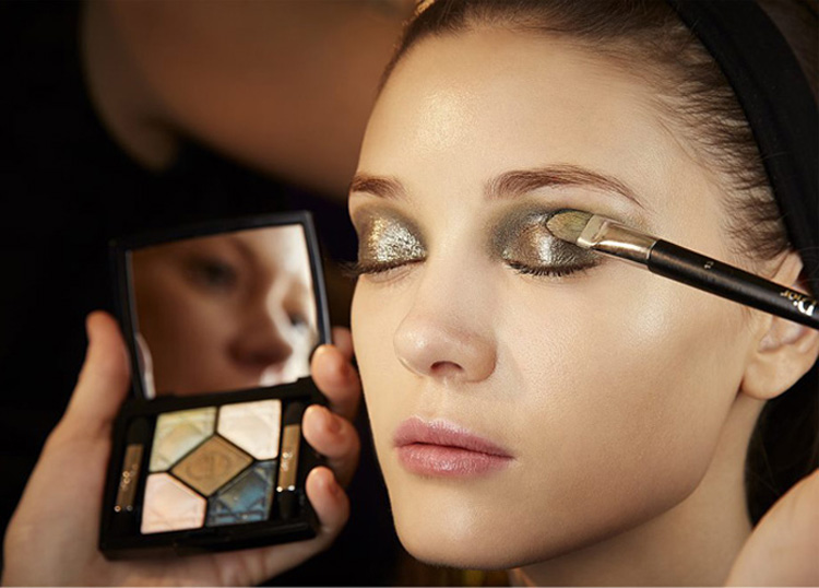 Dior AW14 makeup look by Pat McGrath new eye shadows fall 2014