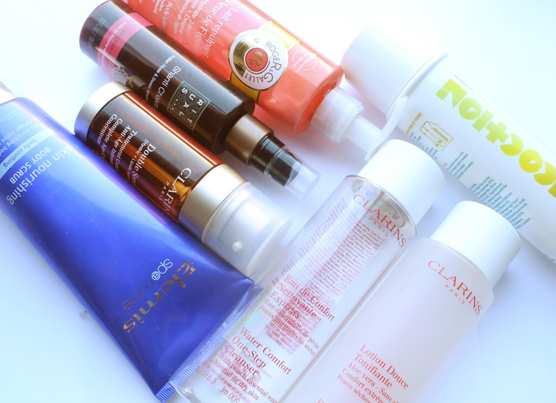 Empties beauty products elemis clarins rituals concoctions roger & gallet makeup4all