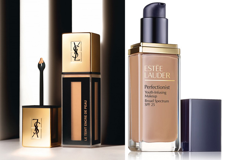 Fall 2014 New Foundations YSL Le Teint Encre de Peau and Estee Lauder Perfectionist Youth-Infusion Makeup