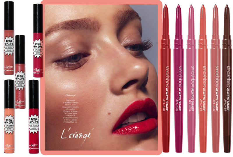 Summer 2014 new lip products Smashbox always sharp lip liner and thebalm read my lips gloss