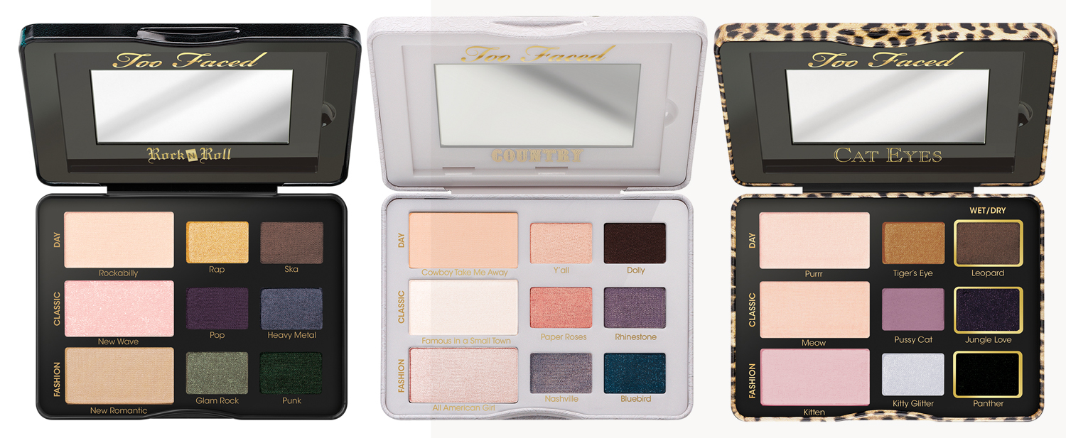 Too Faced Smitten Kitten Makeup Collection for Autumn 2014 eye palettes