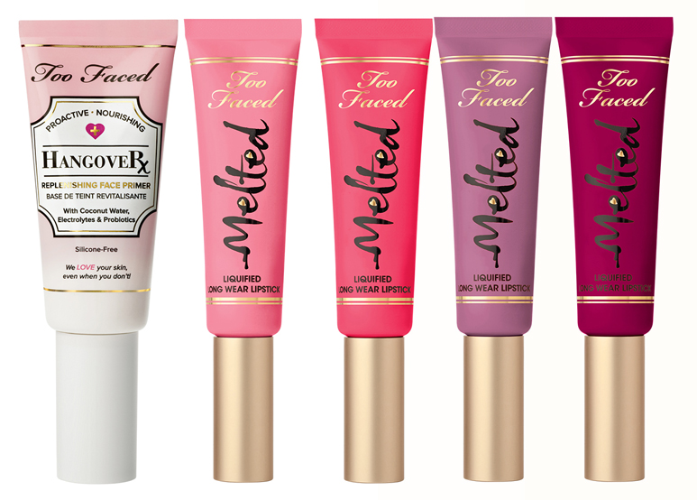Too Faced Smitten Kitten Makeup Collection for Autumn 2014 primer and melted lipsticks