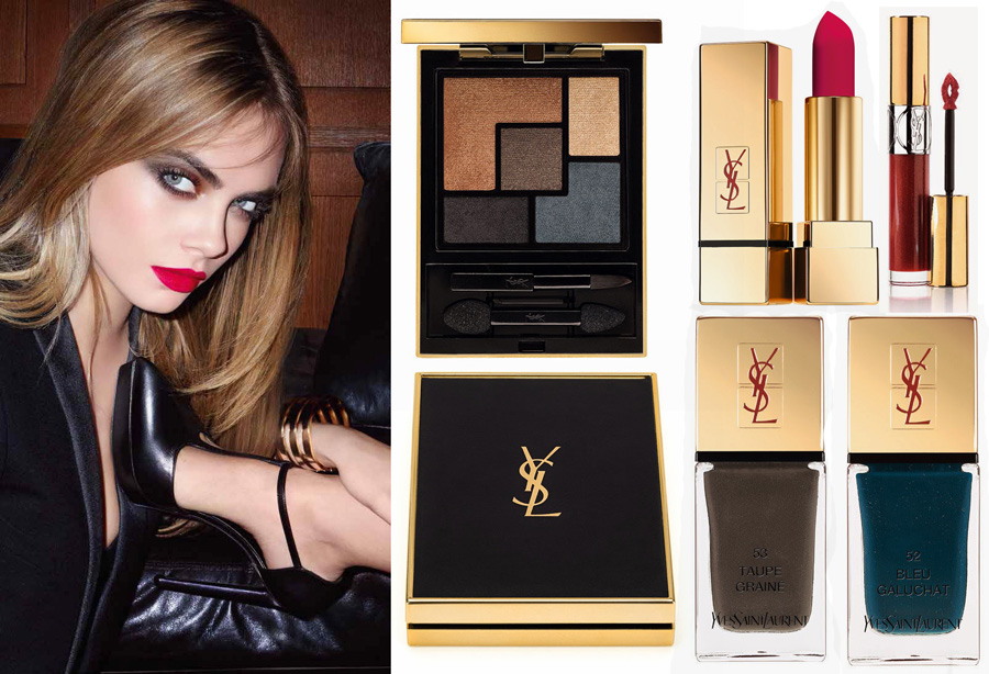 YSL Leather Fetish makeup collection for Fall 2014