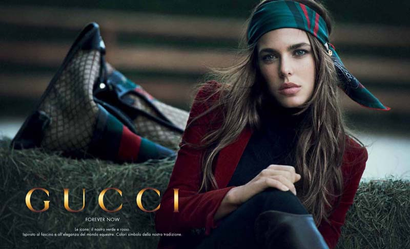charlotte casiraghi  GUCCI advertising