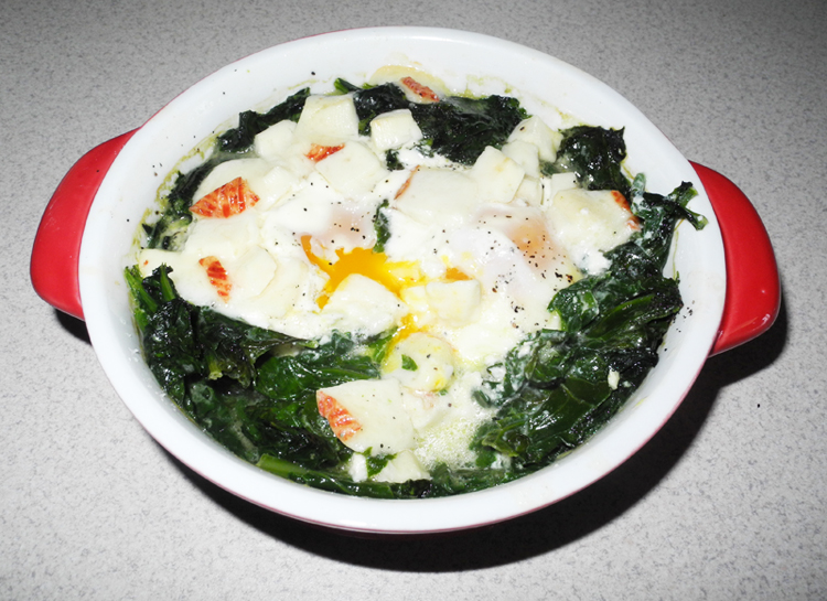 clean and lean diaries day 12 breakfast easy eggs florentine with goat's cheese