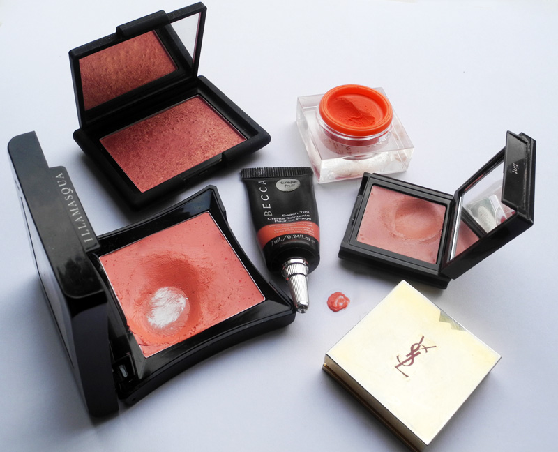 5 Coral Peach Orange Blushes for Summer YSL Illamasqua NARS BECCA  Jouer 1