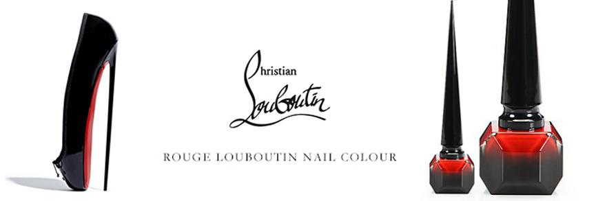 Christian Louboutine Rouhe Louboutine nail polish promo