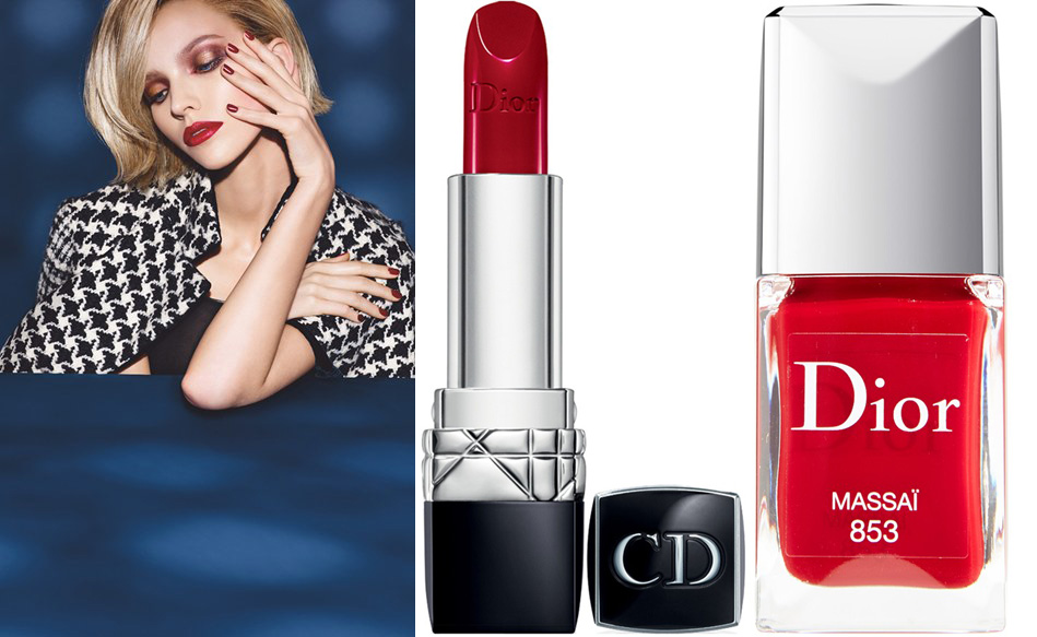Dior Makeup Collection for Fall 2014 Massai lipstick and nail polish