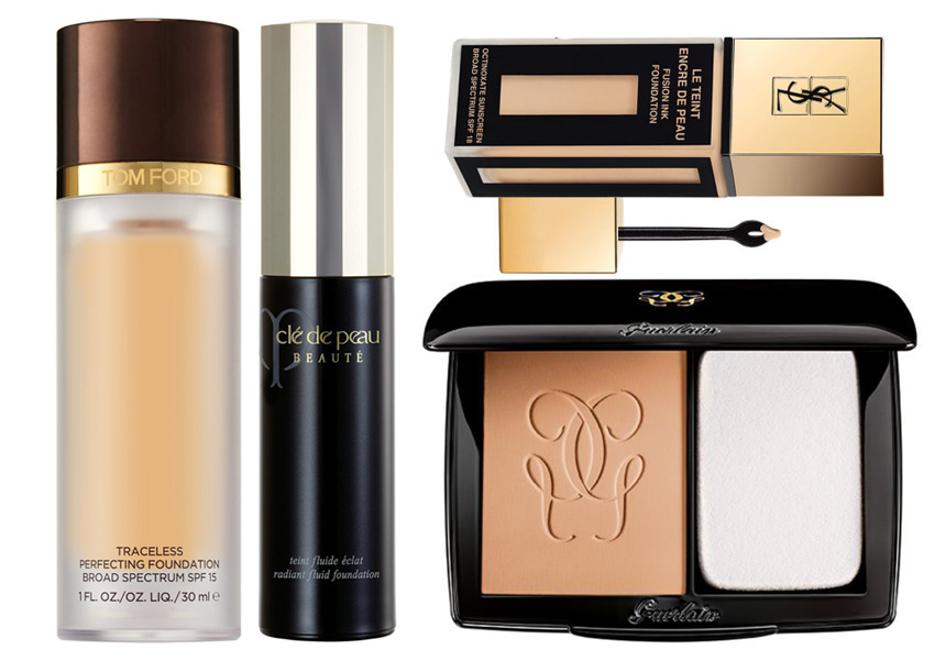 Foundations Tom Ford Cle de peau, Guerlain, YSL Fall 2014