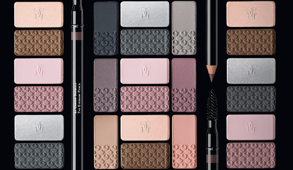 Guerlain KissKiss Makeup Collection for Autumn 2014 eye shadows and eye brow pencil