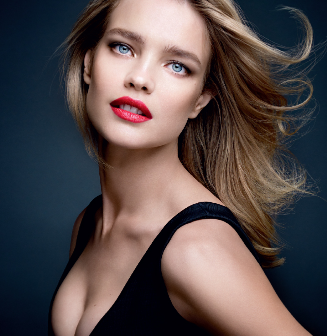 Guerlain KissKiss Makeup Collection for Autumn 2014 promo with Natalia Vodianova