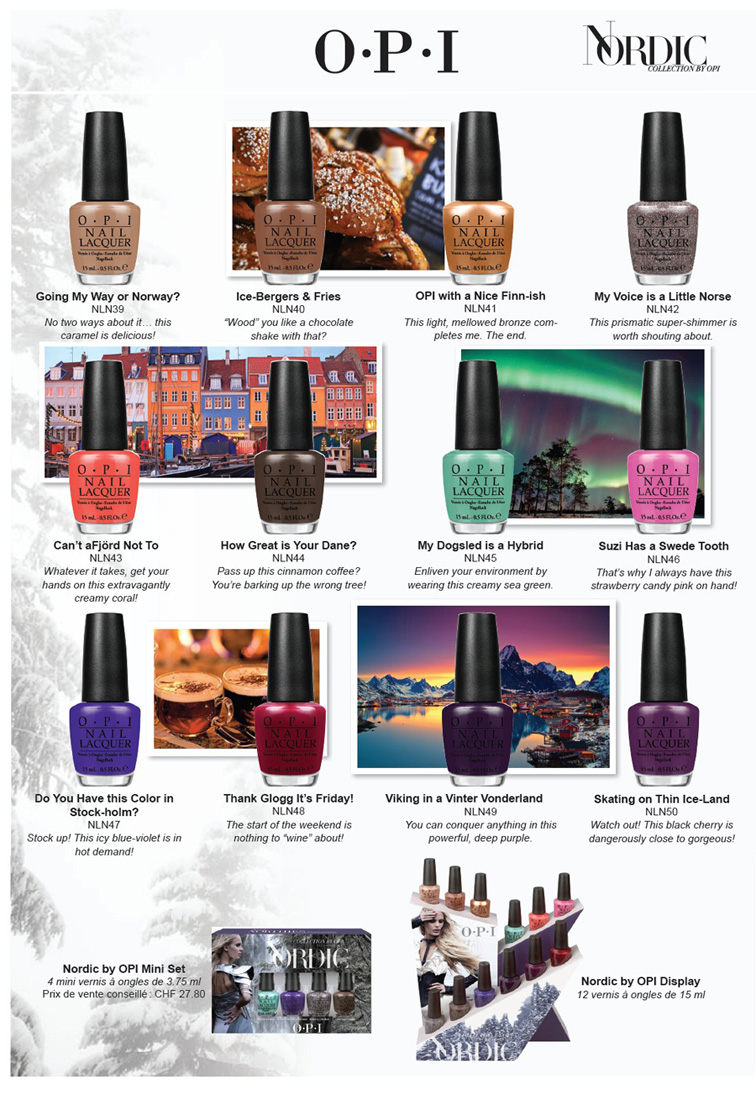 OPI Nordic Nail Polish Collection for Fall 2014 shades