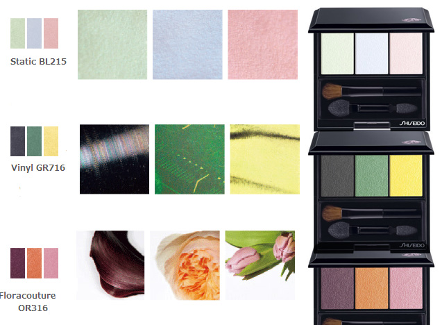 Shiseido Makeup Collection for Fall 2014 eye shadows trios