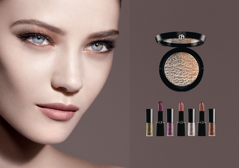 Armani Fade To Grey Makeup Collection for Autumn 2014 promo