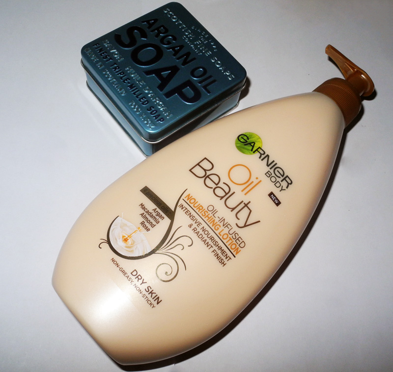New Beauty Purchases Garnier Oil Infused Body Lotion and Scottish Fine Soaps Argan Oil Soap
