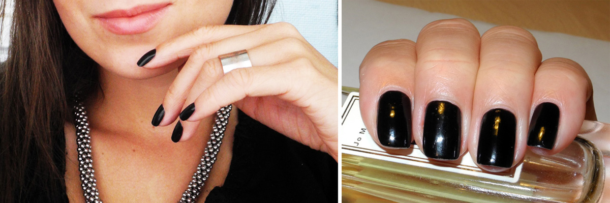CND Black Pool nail polish swatches on nails review