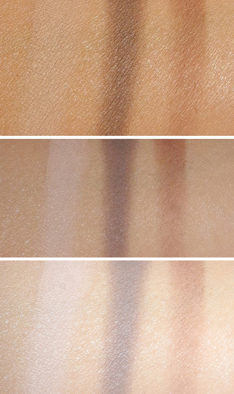 Clarins Ombre Matte Eye Shadows Review and Swatches 02 nude pink 04 rosewood 1