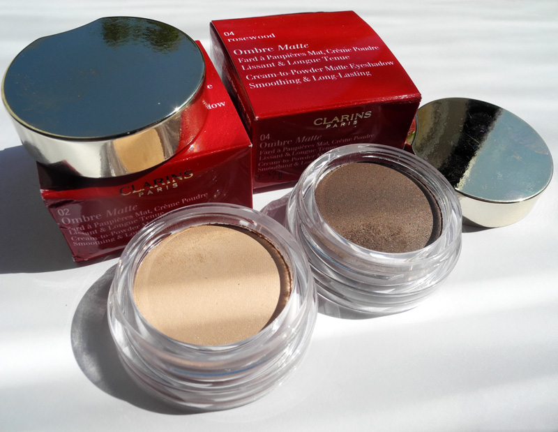 Clarins Ombre Matte Eye Shadows Review and Swatches Nude Pink Rosewood