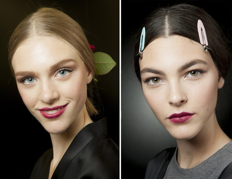 Dolce & Gabbana SS15 look by Pat McGrath on blonde and brunette