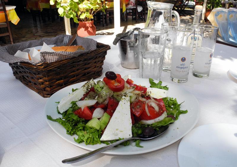 Greece holiday makeup4all food greek salad