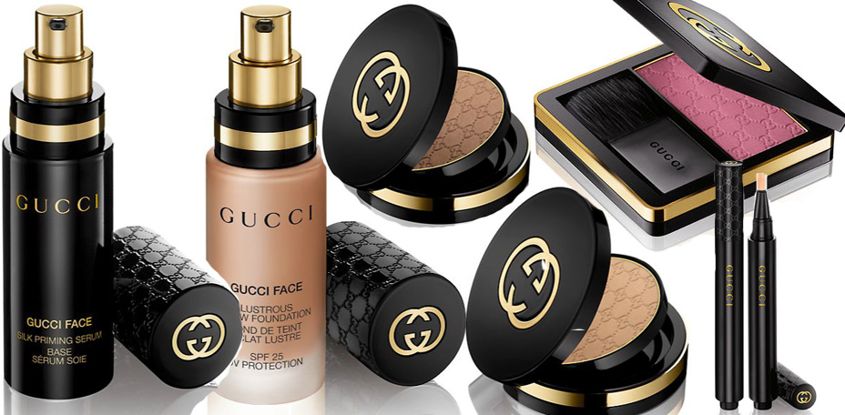 Gucci beauty makeup line face products