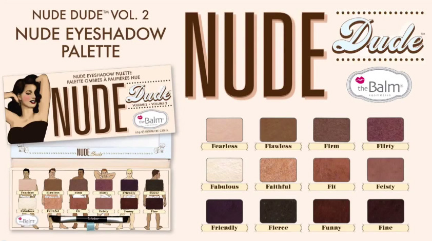 theBalm Nude Dude eye shadow palette Fall 2014