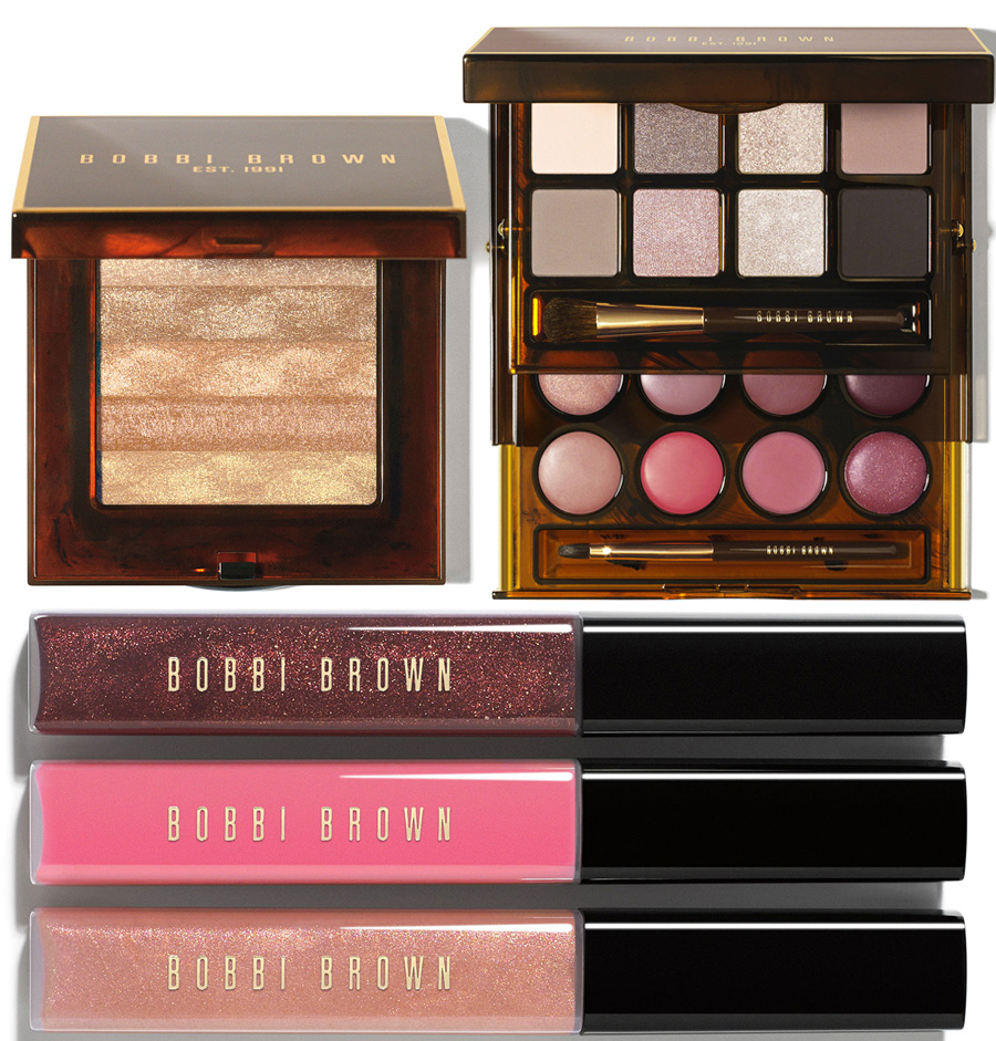 Bobbi Brown Makeup Collection for Holiday 2014 face and lip products