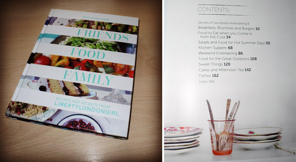 Book Of The Month Friends Food Family by Sasha Wilkins Liberty London Girl