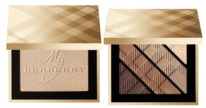 Burberry Makeup Collection for Christams 2014 eye shadows and highlighter