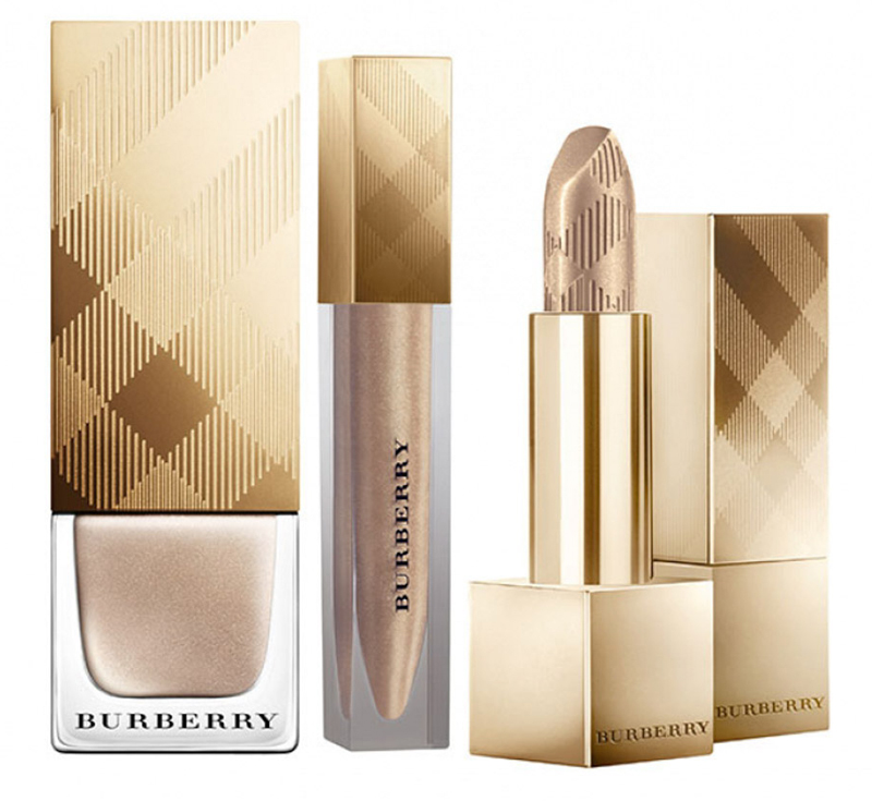 Burberry Makeup Collection for Christams 2014 golden