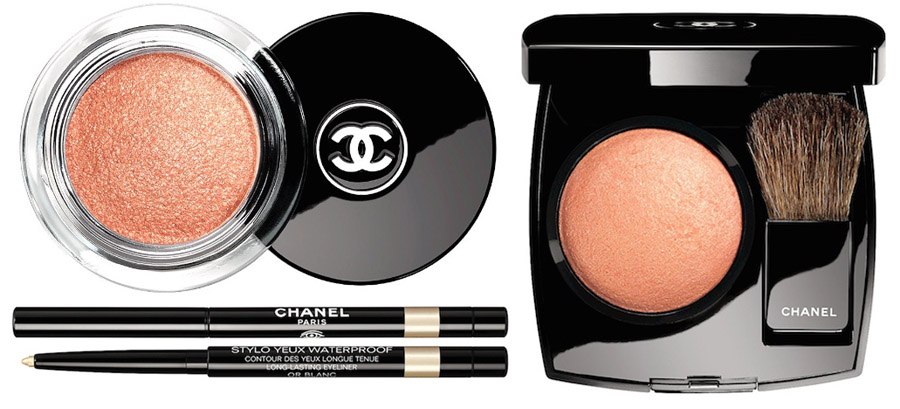 Chanel Plumes Precieuses Makeup Collection for Holiday 2014 eyes and blush