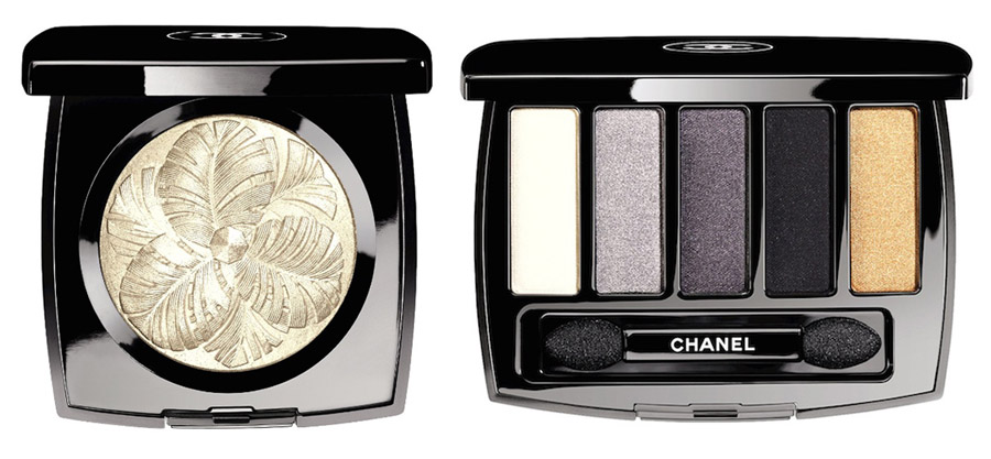 Chanel Plumes Precieuses Makeup Collection for Holiday 2014 highlighter and eye shadows