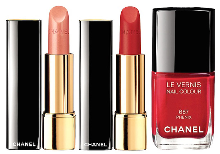 Chanel Plumes Precieuses Makeup Collection for Holiday 2014 lips and nails