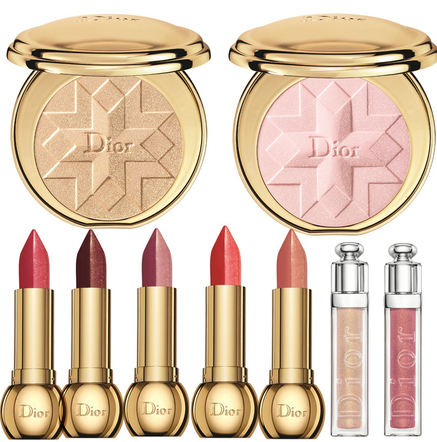 Dior Golden Shock Makeup Collection for Christmas 2014 lips and cheeks