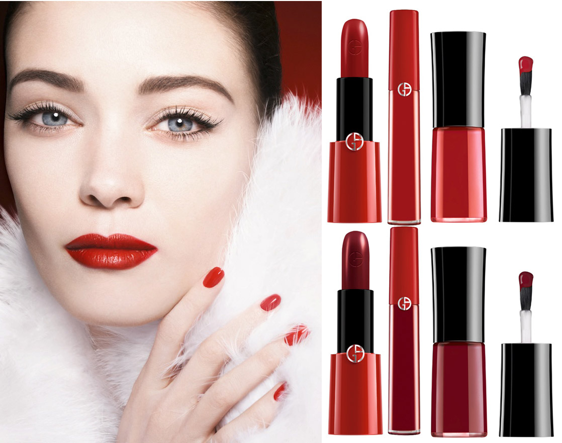 Giorgio Armani Orient Excess Makeup Collection for Holiday 2014 promo