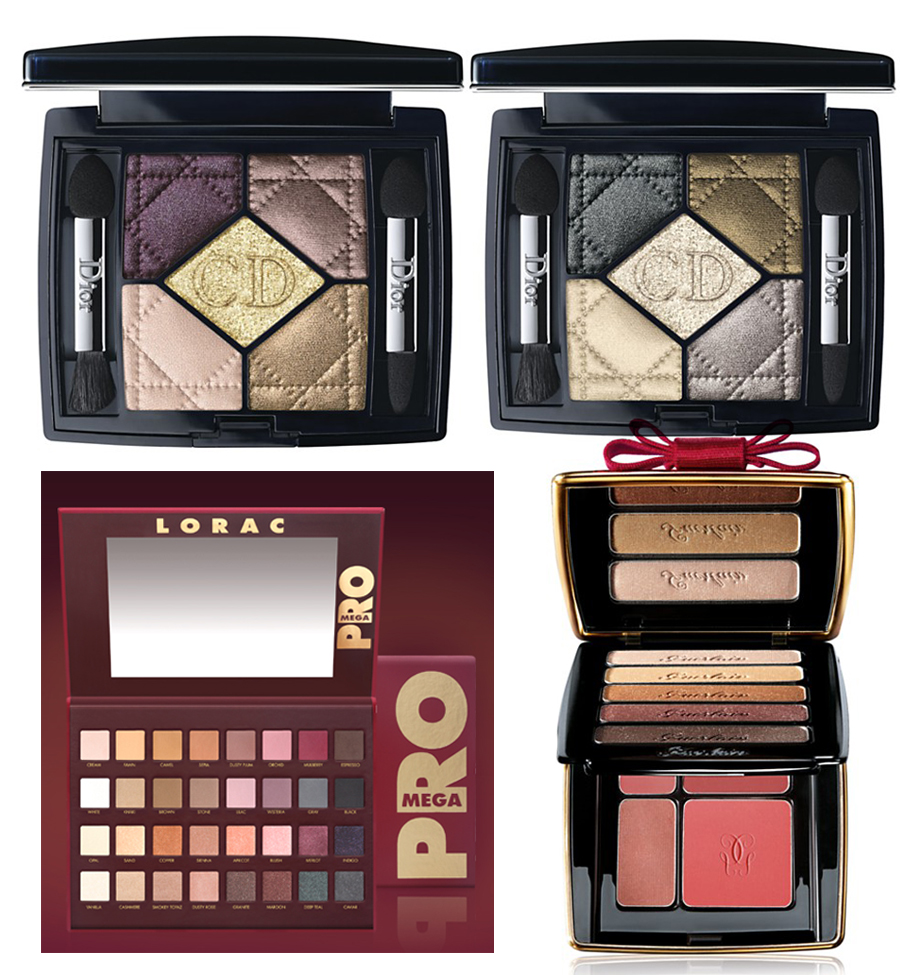 Holiday 2014 makeup eye shadows palettes Lorac Mega Pro, Dior and Guerlain