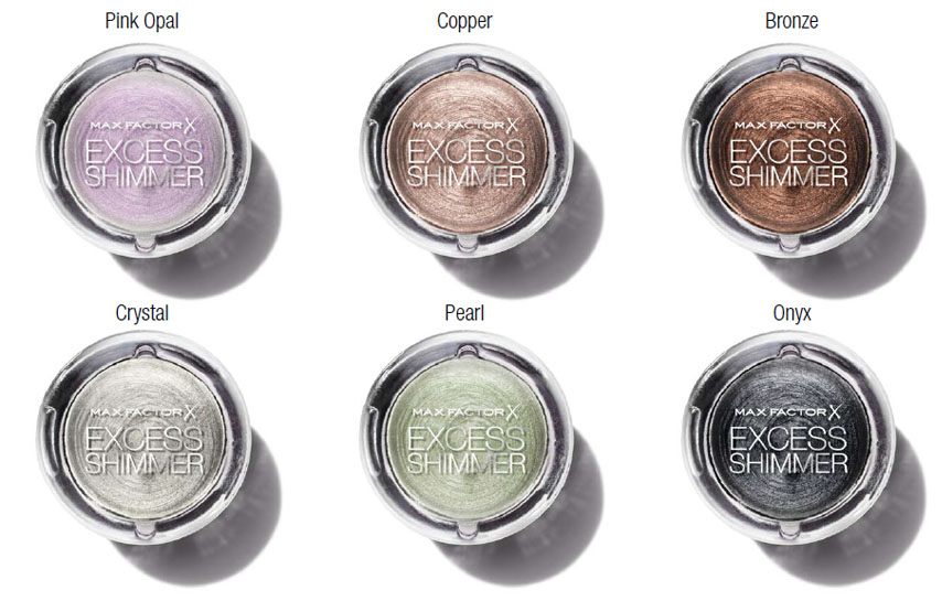Max Factor Excess Shimmer Eye Shadows promo makeup4all