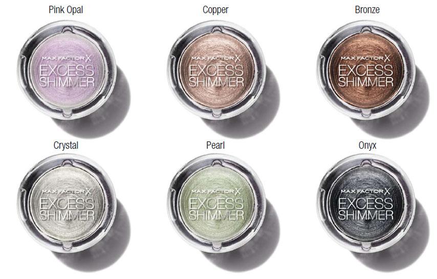 Max Factor Excess Shimmer Eye Shadows promo makeup4all