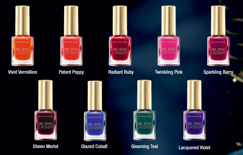Max Factor  Gel Shine Lacquers  all shades