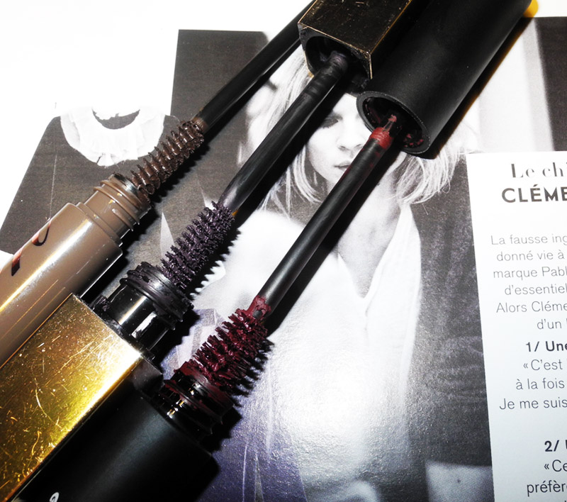 Black Mascara Alternatives Plum Clarins, Brown benefot and Oxblood Rouge Bunny Rouge