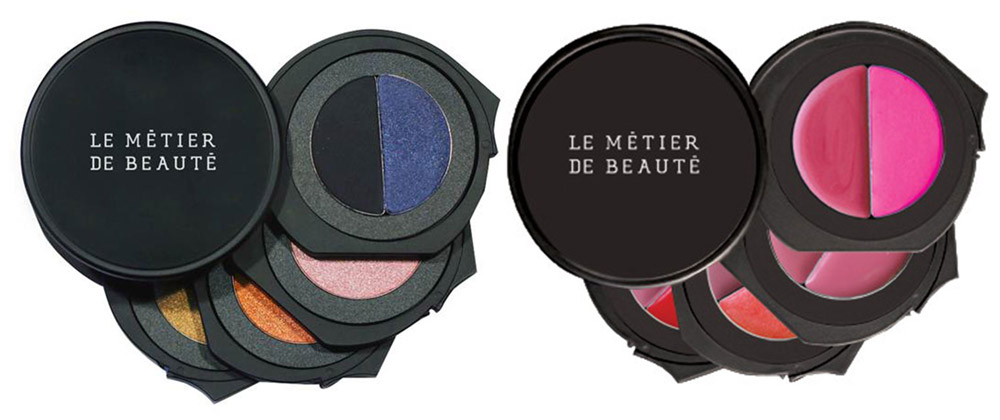 Le Metier de Beaute Obsidian Odyssey Eye Shadow Kaleidoscope Palette and  Lip and Cheek Palette christmas 2014