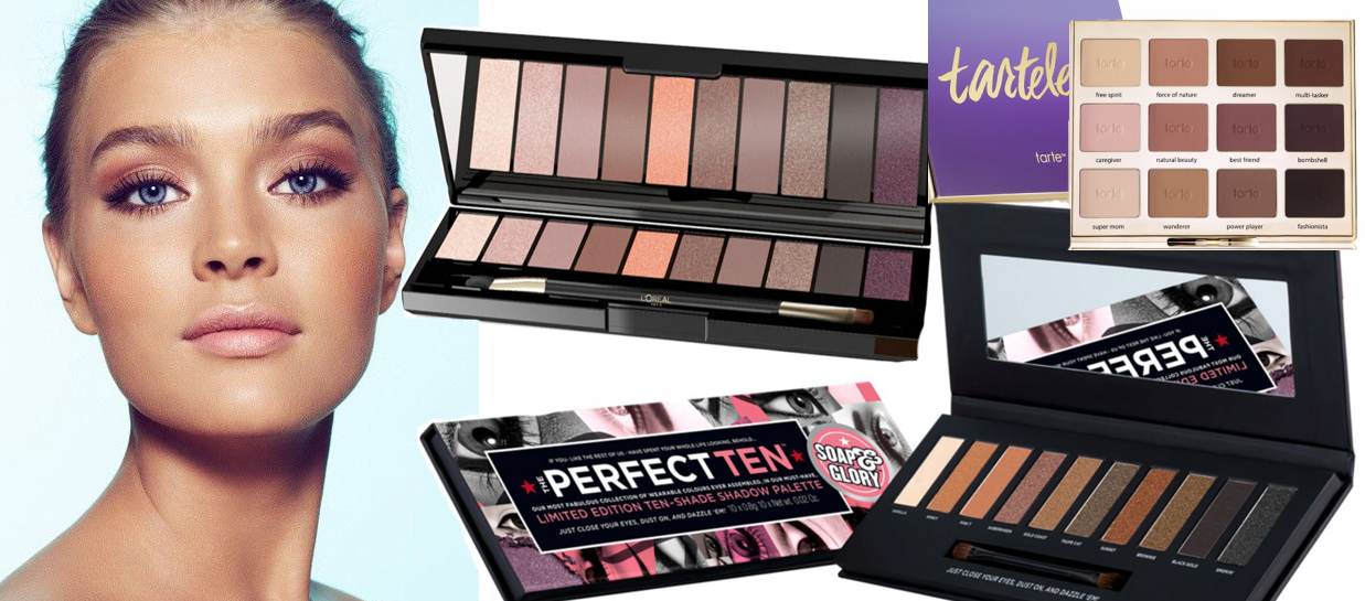 New Natural Eye Shadows Palettes tarte loreal and Soap & Glory