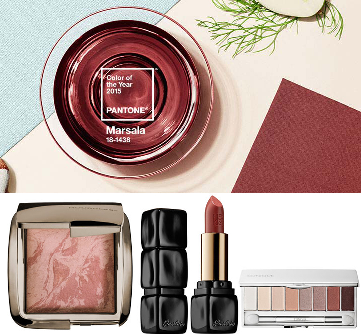 Marsala Beauty Prodsucts from Sephora Guerlain Hourglass, Clinique