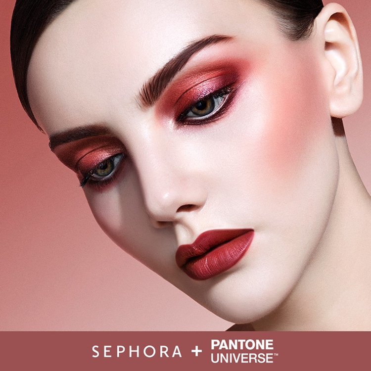Pantone Colour of The Year Marsala model from Sephora