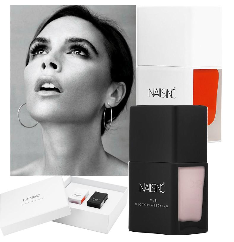 Victoria Beckham and Nails Inc Collection promo