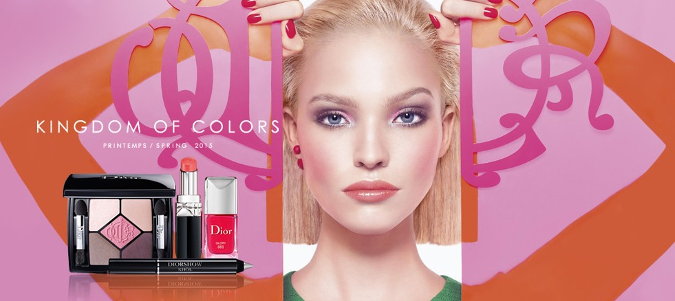 Dior Kingdom Of Colors Makeup Collection for Spring 2015 promo woth Sasha Luss