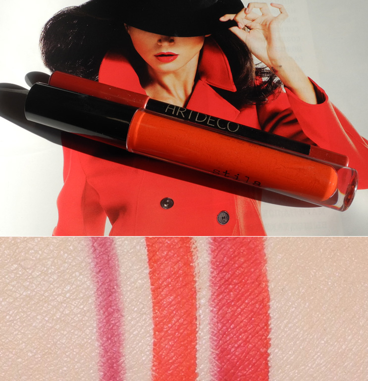 Favourite Red Lips Combo Stila and ArtDeco beauty makeup